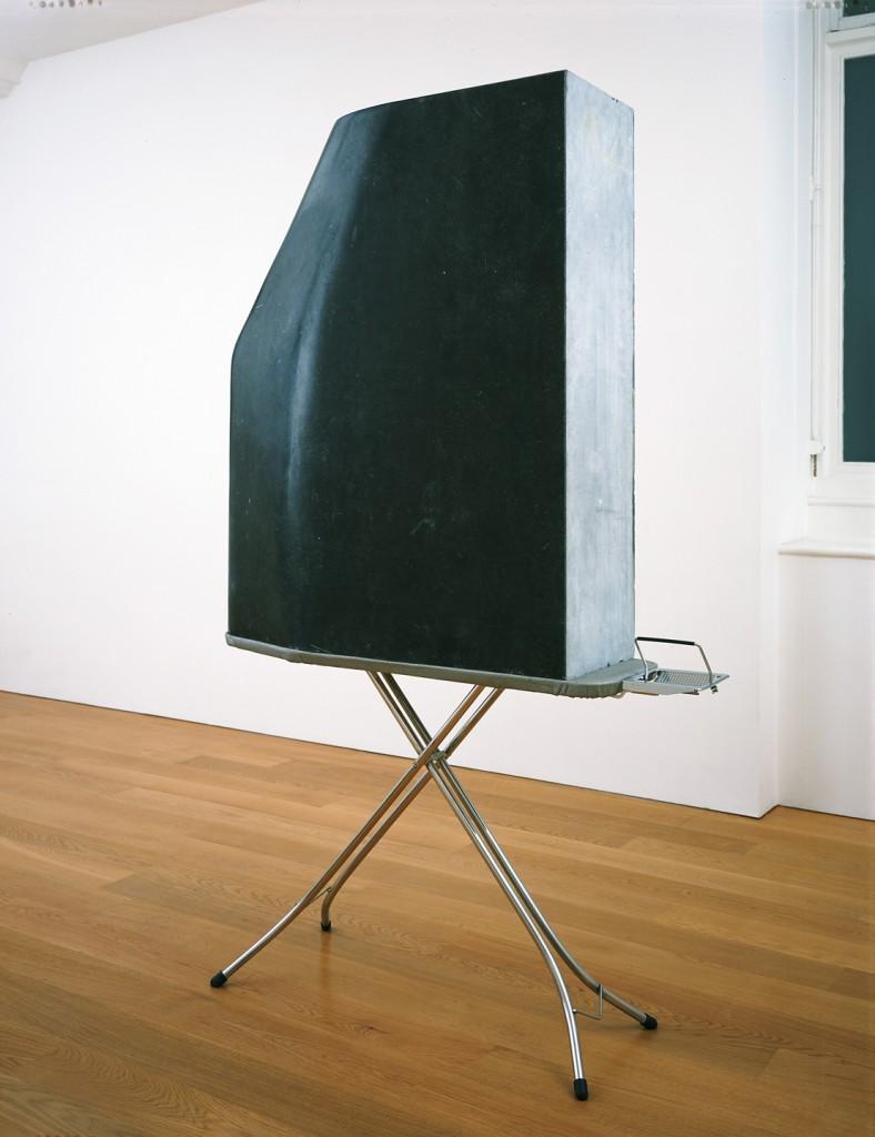 Amikam Toren, Golem, kilkenny stone, stainless steel, fabric, 216x136x37cm, 2002