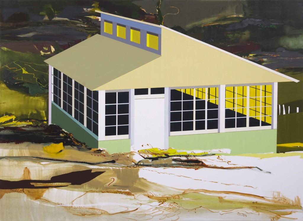Matan Ben Tolila, Greenhouse, Oil on canvas, 146x200cm, 2012