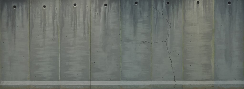 I will dress you a gown of concrete and cement, oil on canvas, 800x300cm, 2014
