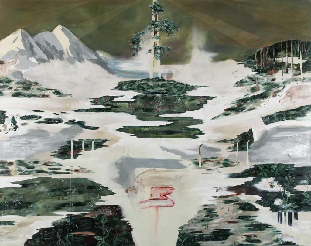 Landmarks II, oil on canvas, 210X170cm, 2006
