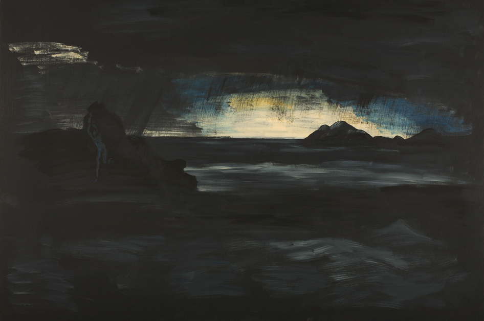 Landscape in the Rain (Andromeda), Acrylic on Plywood, 80x120cm, 2007