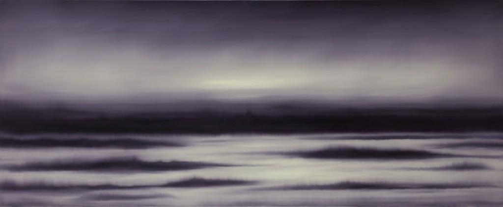 Light Ash Land, Oil on canvas, 240x100cm, 2014