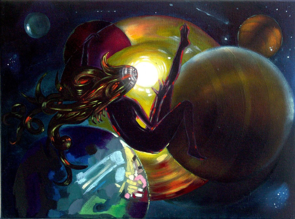 Lilliane and the Twilght Dance, oil on canvas, 30x40cm, 2010