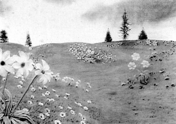 Maya Schindler , From Teletabies Series, Mixed Media on Paper ,72x52cm, 2002