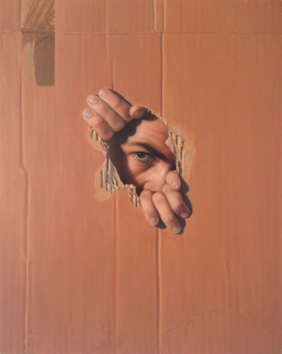 Michael Halak, Untitled, Oil on wood, 50x40cm, 2012
