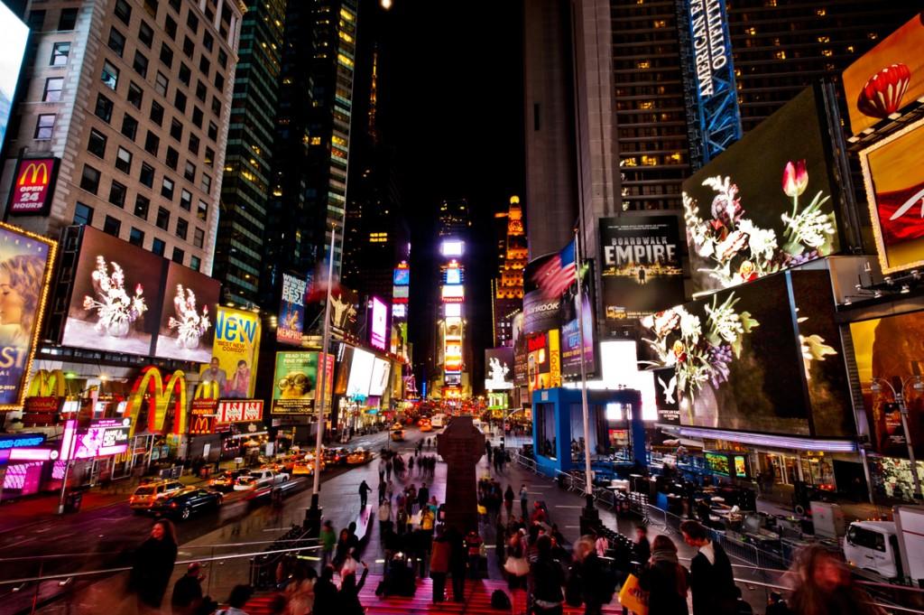 Ori Gersht, Big Bang 1, Times Square, New York, 2012
