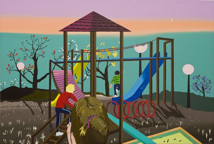 Playground 2, acrylic on canvas, 120 x80 cm, 2010