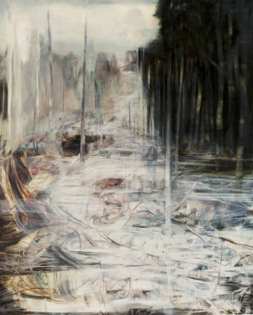 White night, oil on canvas, 150x120 cm, 2012