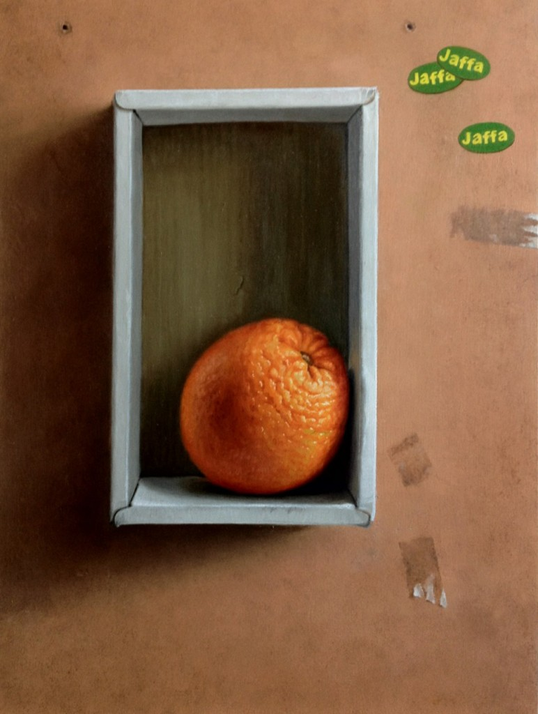 Michael Halak, Orange, Oil on canvas, 40x30cm, 2009