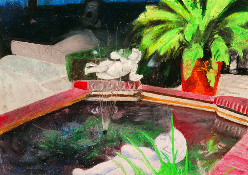 Fountain, Pastel on Paper, 70x100cm, 2011