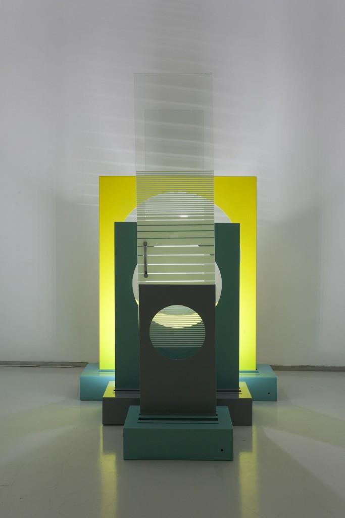 Toony Navok, Origins, untitled 5, shower doors, metal and lights, vairble sizes, 2013