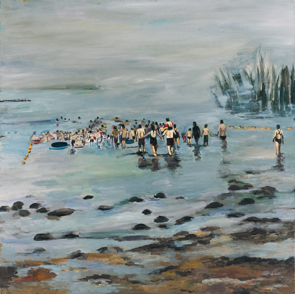 Orly Maiberg, Sea of Galilee, Oil on canvas, 140x140 cm, 2012