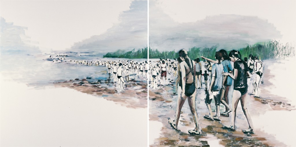 Untitled 4, oil on canvas, diptych, 2x140x100cm , 2012