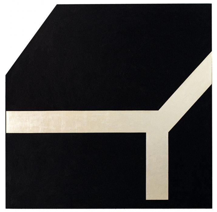 Joshua Borkovsky, Pilgrimage, Mixed media and a gold leaf on fabric, 50x50cm,1985-6