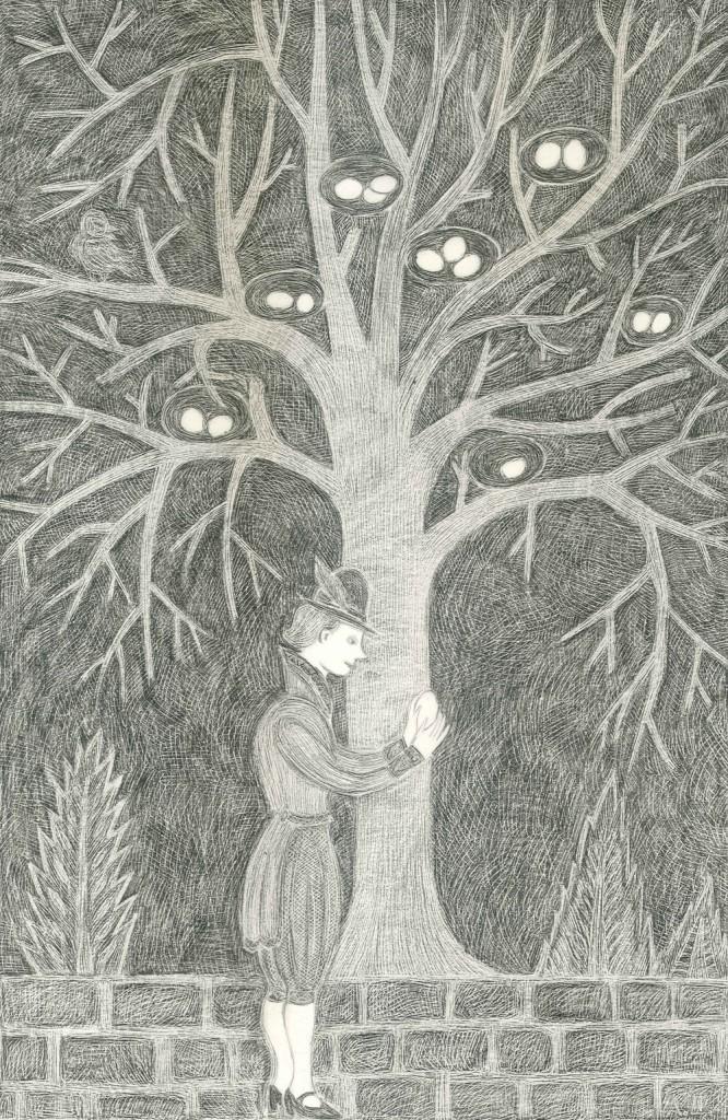 Alexandra Zuckerman, Prince of the Egg, pencil on paper, 42x29.7cm, 2012