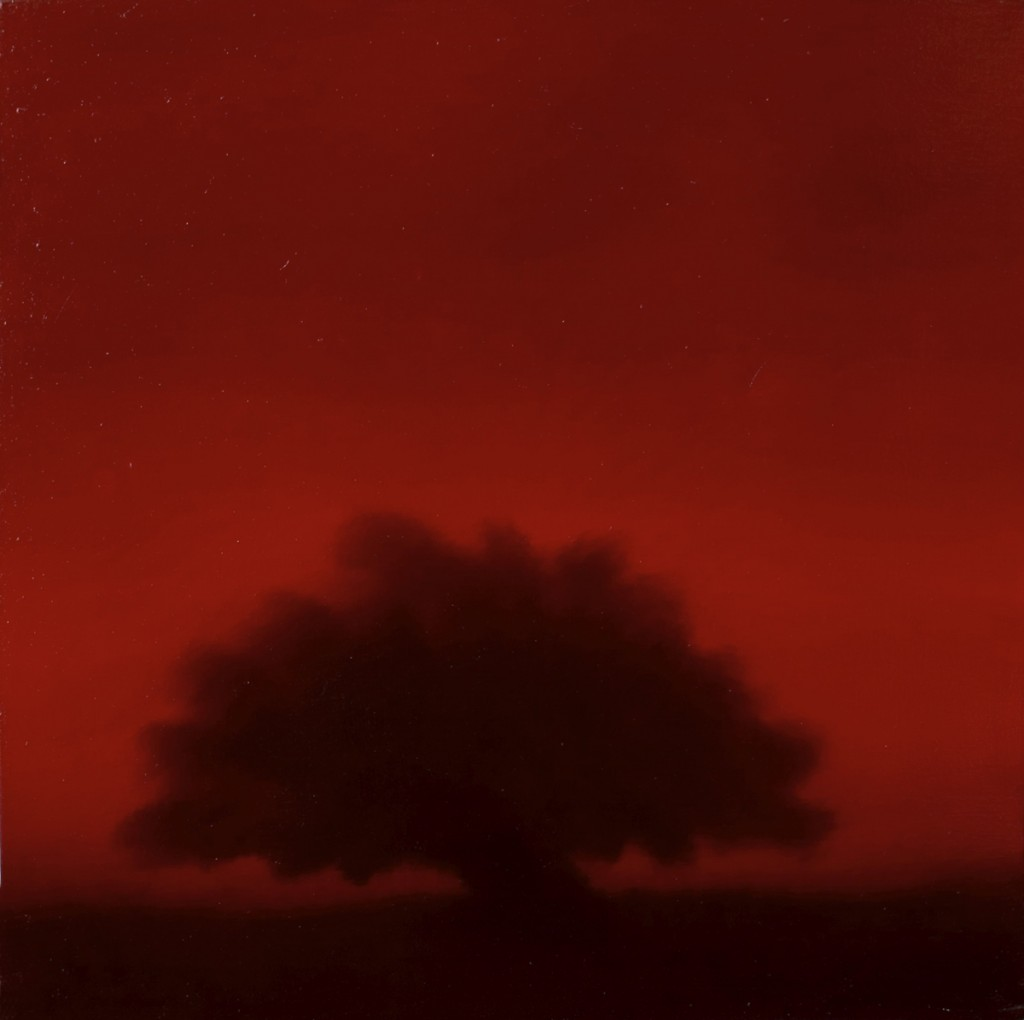 Crimson tree, oil on canvas, 60x40cm, 2005