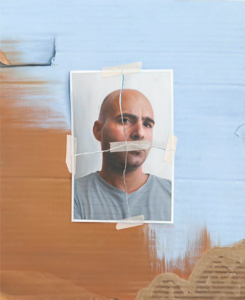 Michael Halak, Self Portrait, Oil on playwood, 60x50cm, 2011