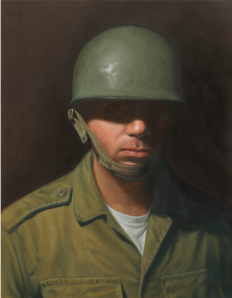 Michael Halak, Self portrait, Oil on canvas, 70x55cm, 2009