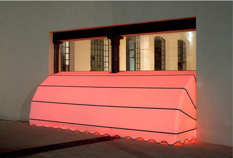 Toony Navok, Skyline (Marqueeza), outside view, Art TLV, 2009