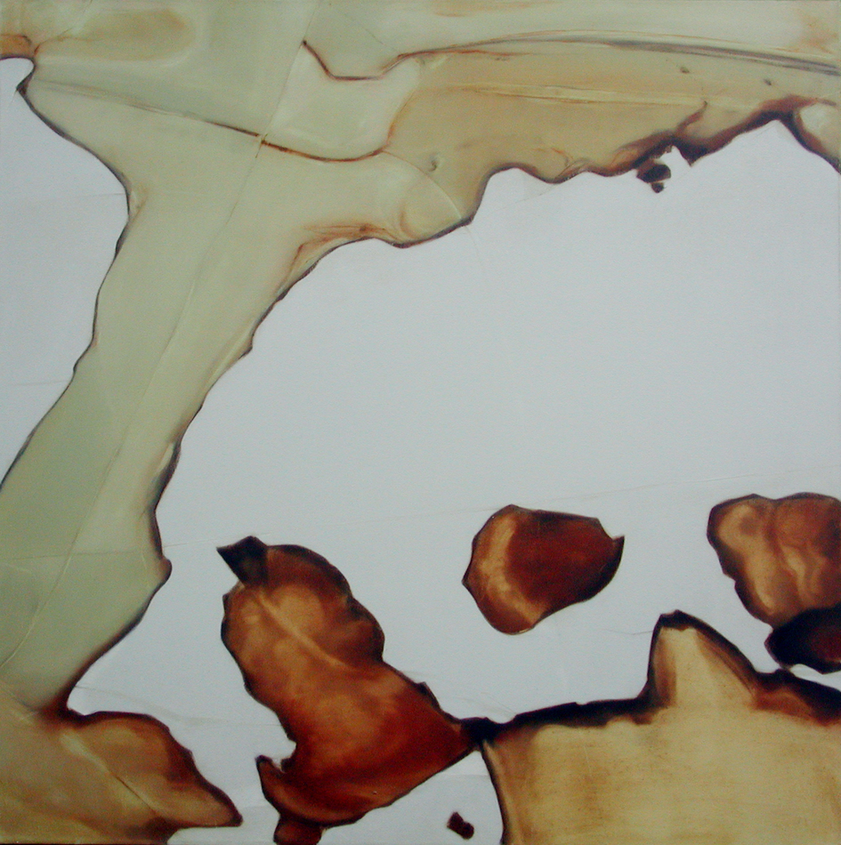 Stone II, oil on Canvas 110x110cm, 2001