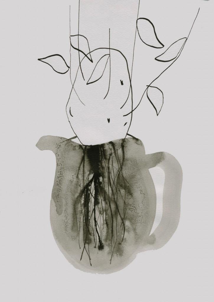 Talia Keinan, Sweet Potato, Ink on Paper, 29x21cm, 2009