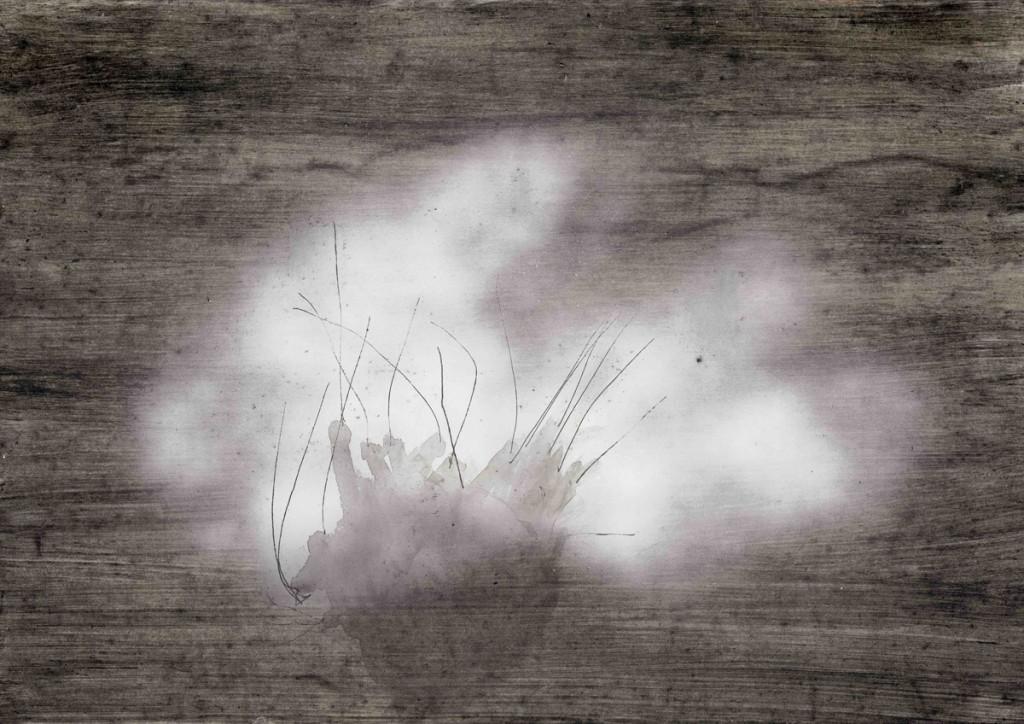 Smoke Bomb, mixed media on paper,21X29cm, 2007
