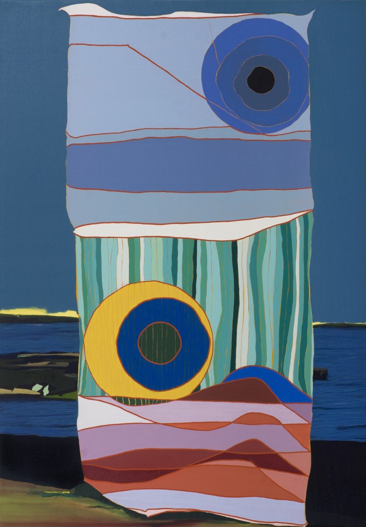 Matan Ben Tolila, Two moons of autumn, Oil on canvas, 150x105cm, 2012