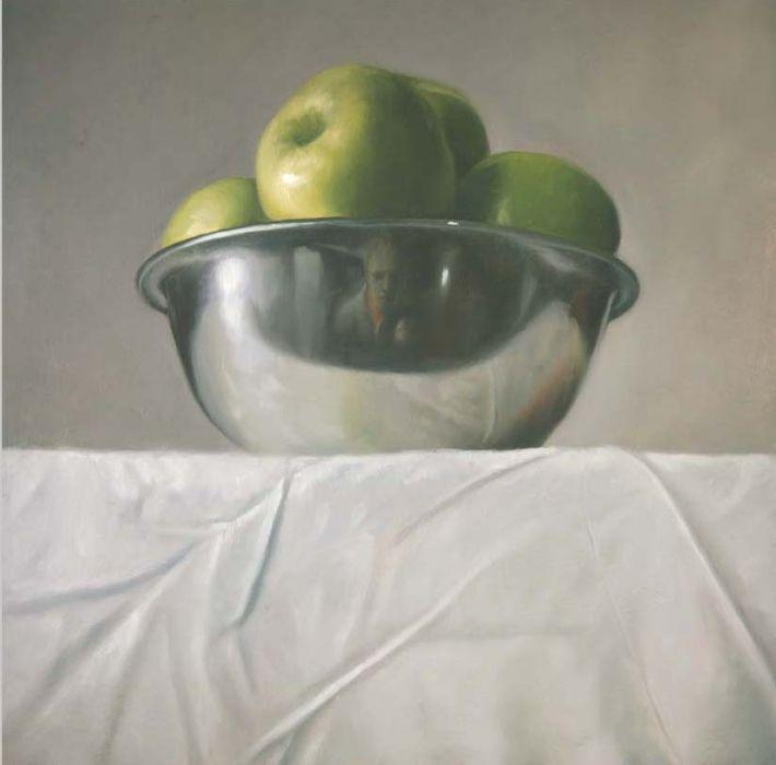 Michael Halak, Untitled #7, Oil on plywood, 50x50cm, 2009
