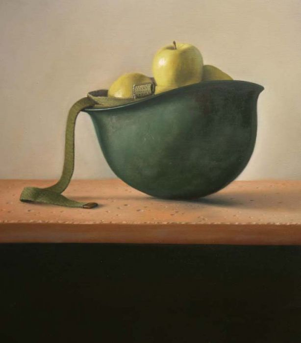 Michael Halak, Untitled, Oil on Plywood, 50x50cm, 2009