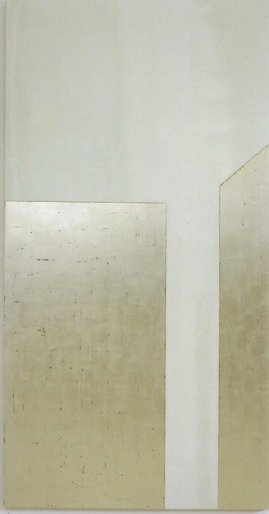Joshua Borkovsky, Untitled, Tempera and Gold Leaf on Wood Panel, 80x40cm, 2002