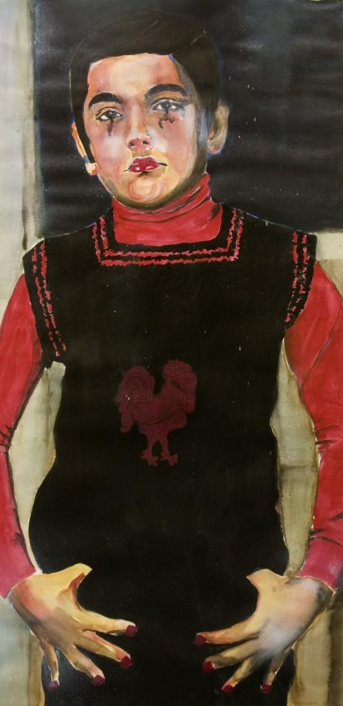 Alexandra Zuckerman, Untitled #2, Mixed Media on Paper, 85cm x 43cm, 2004