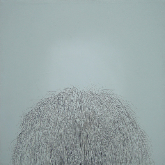 Weeping willow light #1, oil on canvas, 80x80cm, 2003