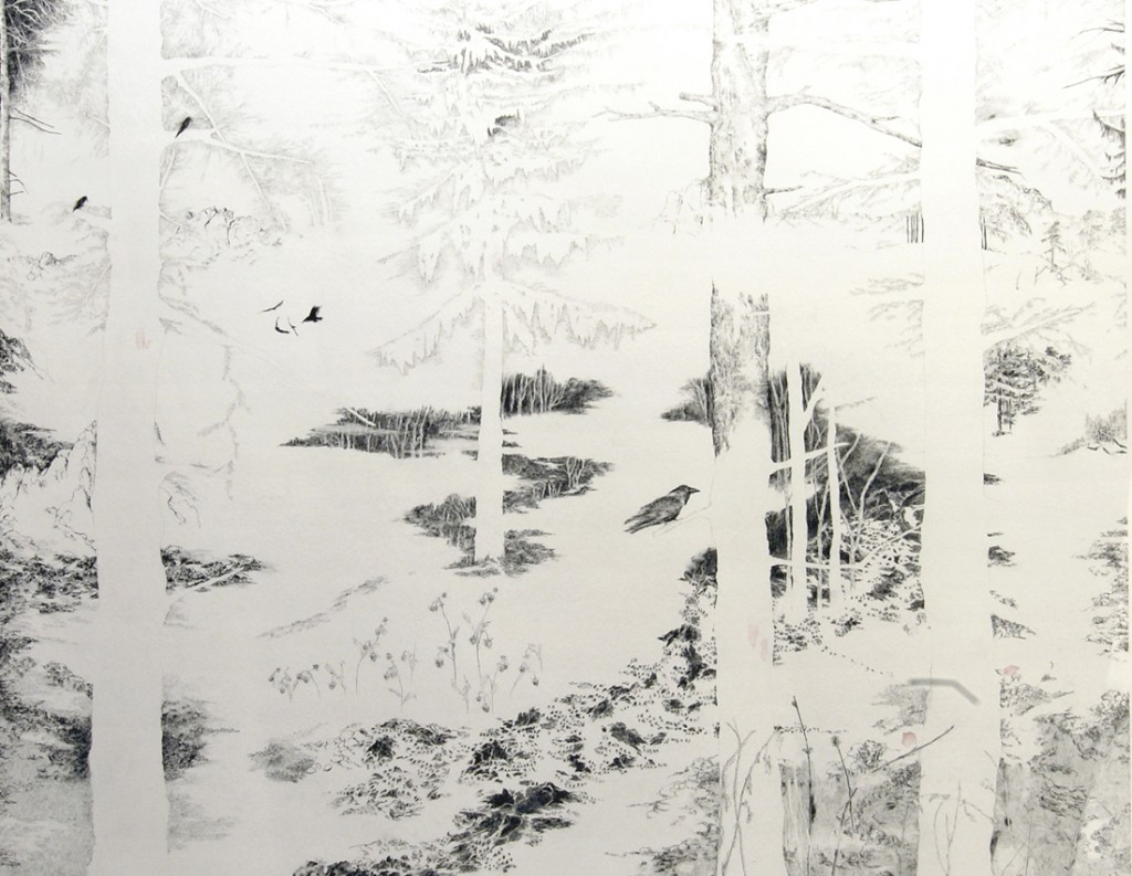 Nogah Engler, Where They Were, Pencil on Paper, 120x150cm, 2005-2006