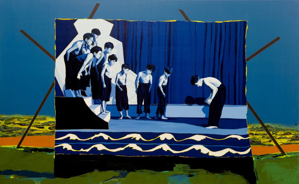 Matan Ben Tolila, Young Lucian, Oil on canvas, 106x170cm, 2015