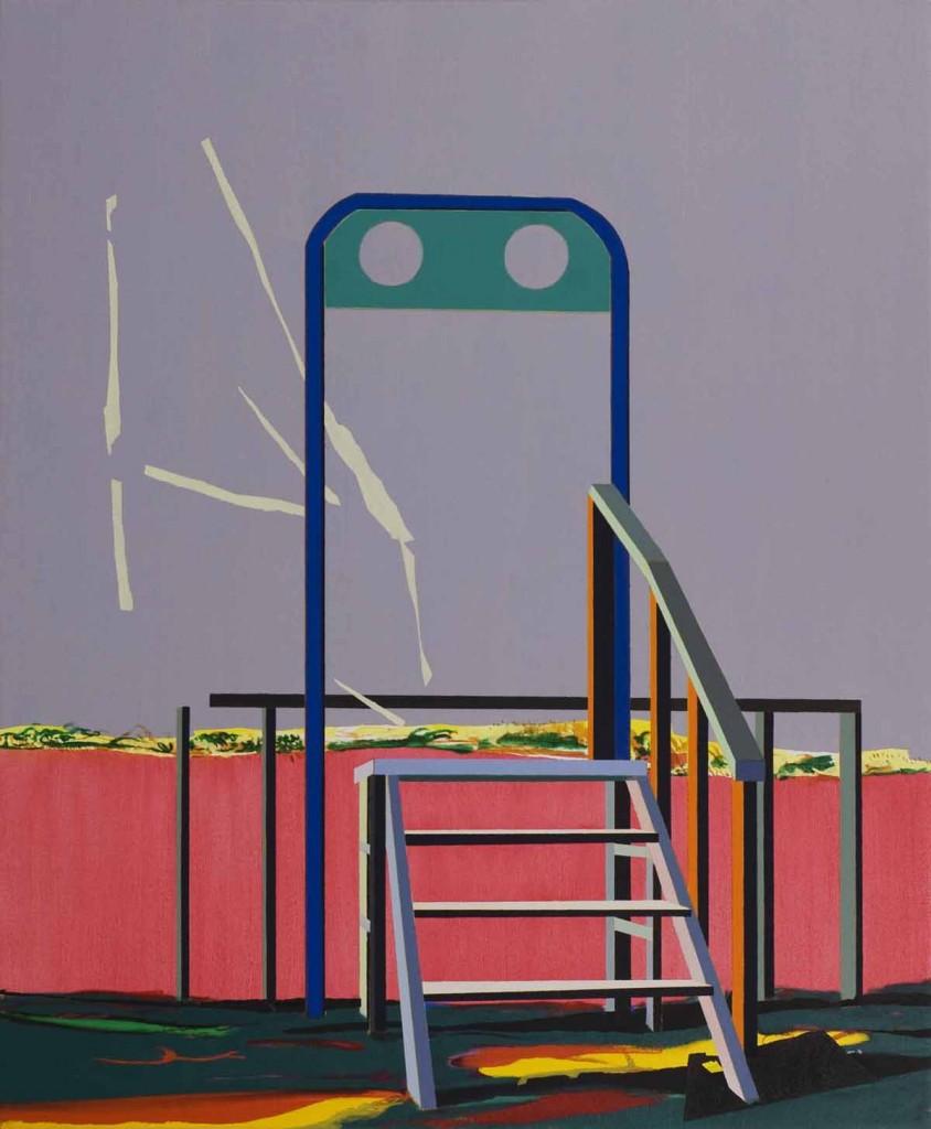 Blue gate, oil on canvas, 115x95cm, 2012