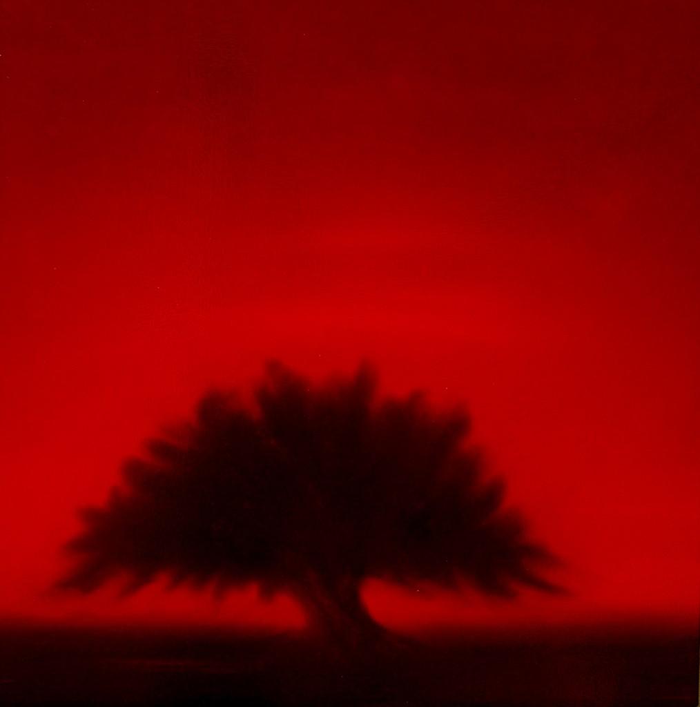 Crimson tree, Oil on canvas, 80x80cm, 2009-2010