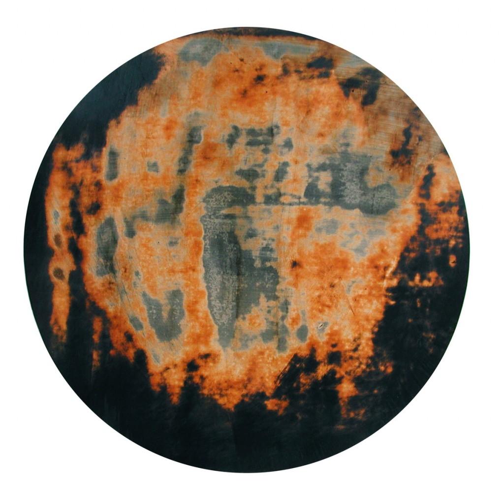 Joshua Borkovsky, Dream stone, Distemper and oil on gesso on wood, 40cm, 1996