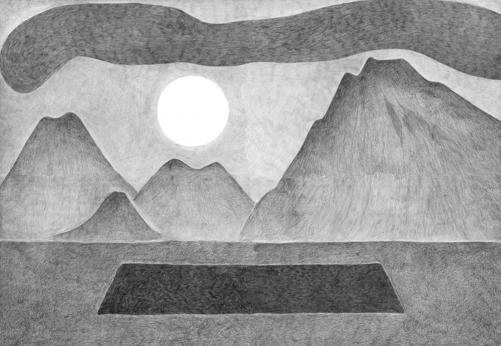 Alexandra Zuckerman, Hole, pencil on paper, 59.4x42cm, 2012