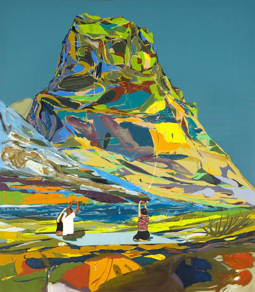 Matan Ben Tolila, Yoga, Oil on canvas, 148x169cm, 2014