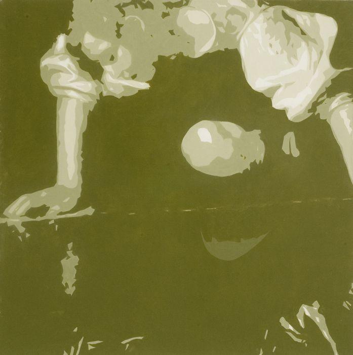 Joshua Borkovsky, Narcissus, Oil on linen, 50x50cm, 2006