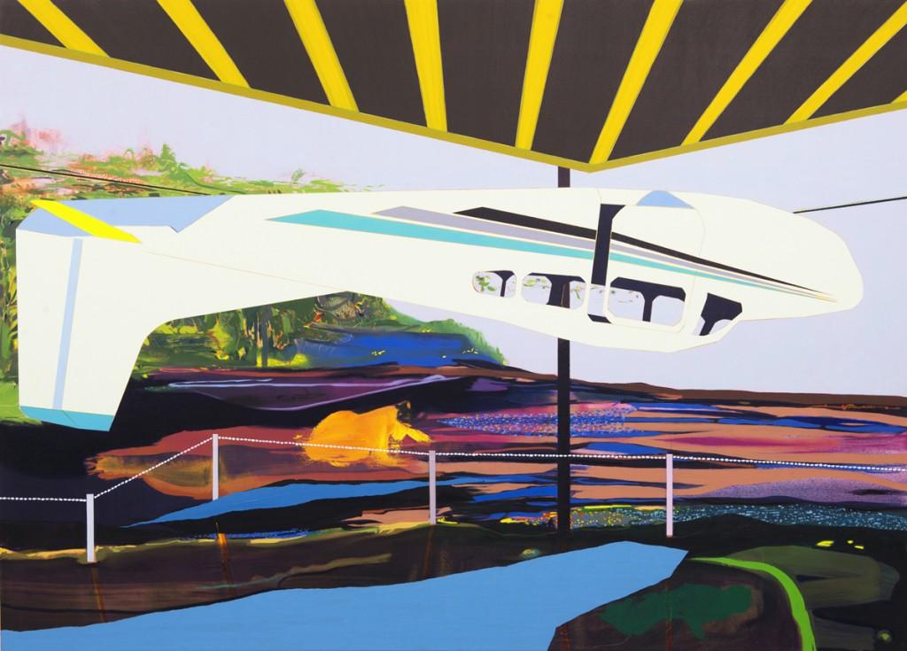 Matan Ben Tolila, Overturned plane, Oil on canvas, 135x188cm, 2013