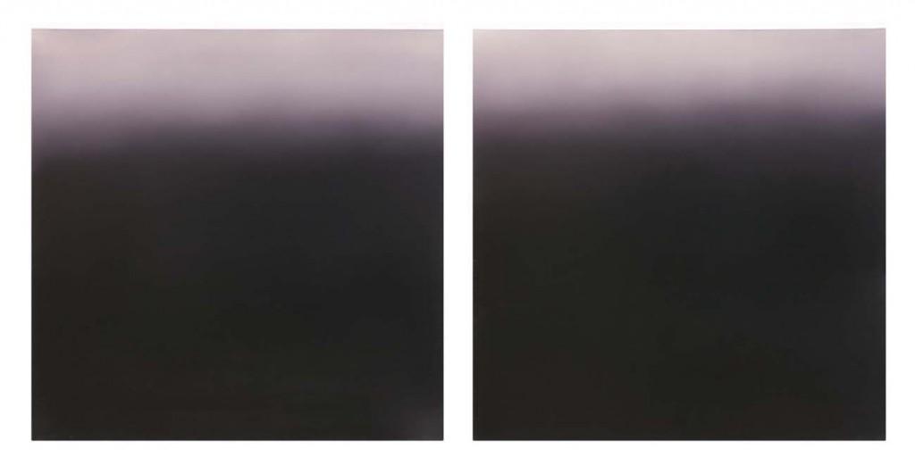 Purple Dawn (Diptych), Oil on Canvas, 2x60x60cm, 2003