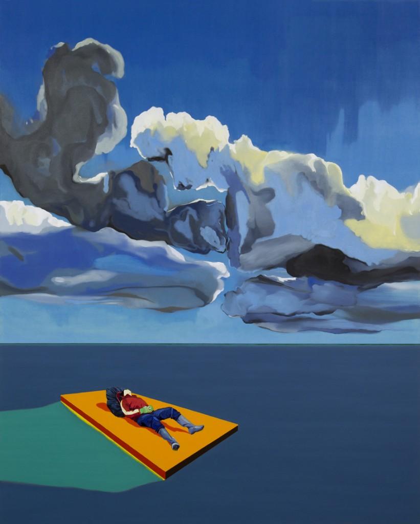 Matan Ben Tolila, Raft, Oil on canvas, 150x185cm ,2014