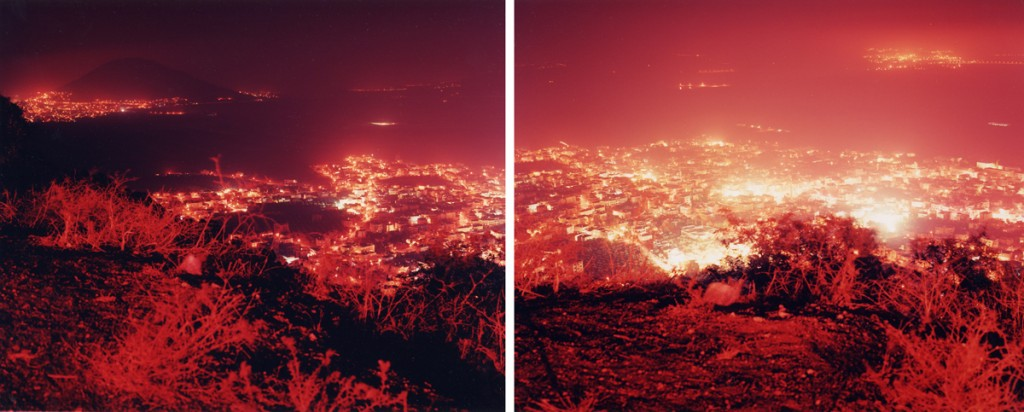 Ori Gersht, Red light white city (Diptych), 120x150cm, 2002
