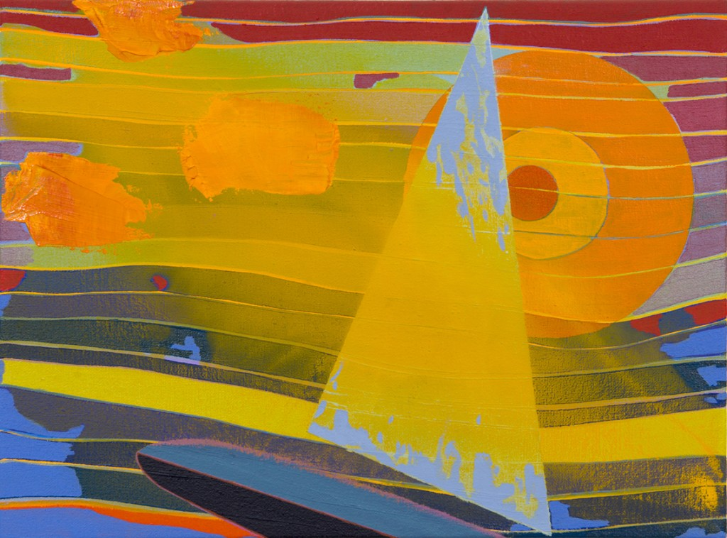 Matan Ben Tolila, Sails up, Oil on canvas, 30x40cm, 2014