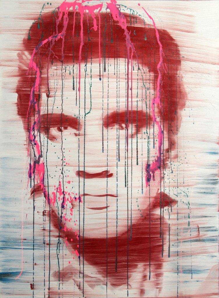 Jossef Krispel, Untitled (Elvis 2), Oil and acrylic on canvas, 115x85cm, 2013