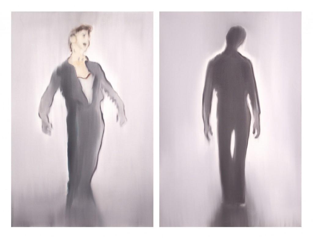 Jossef Krispel, Untitled (heros), Oil on canvas, 130x85cm each part, diptych, 2013