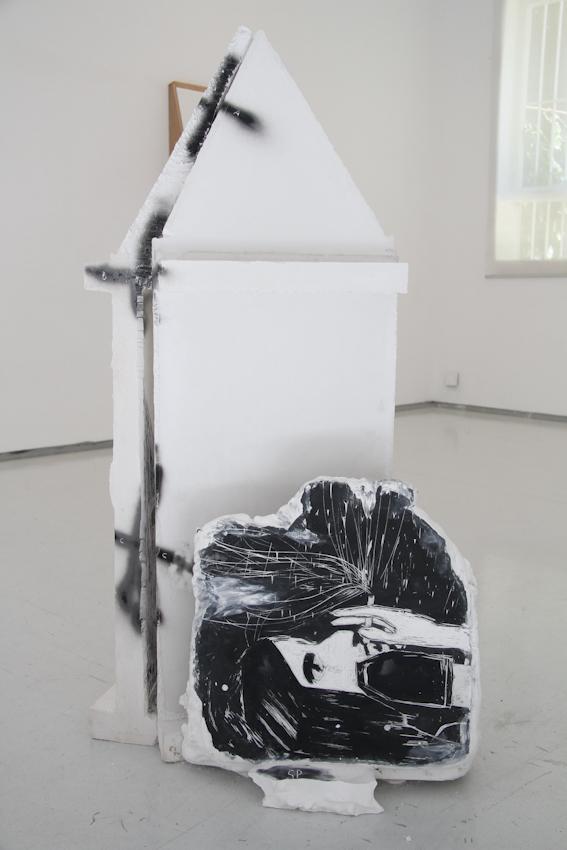 Shahar Yahalom, Self Portrait, Plaster Headstones, 120x85x45 cm, 2015