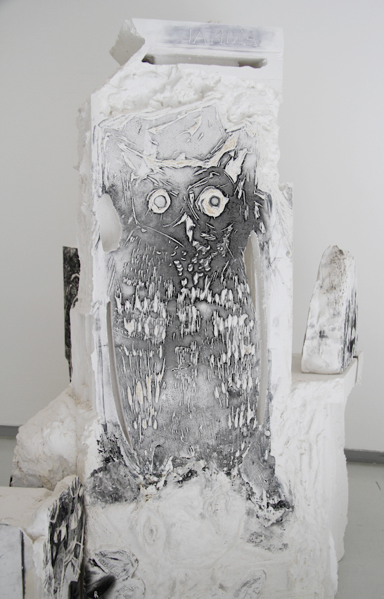 Shahar Yahalom, Animal Animal, Plaster Headstones, 110x105x125 cm, 2015