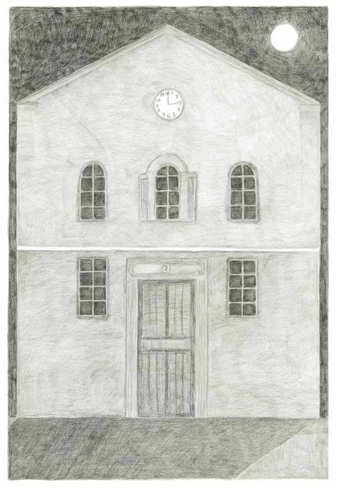 Alexandra Zuckreman, house number seven,pencil on paper 59.4x42 cm, 2012